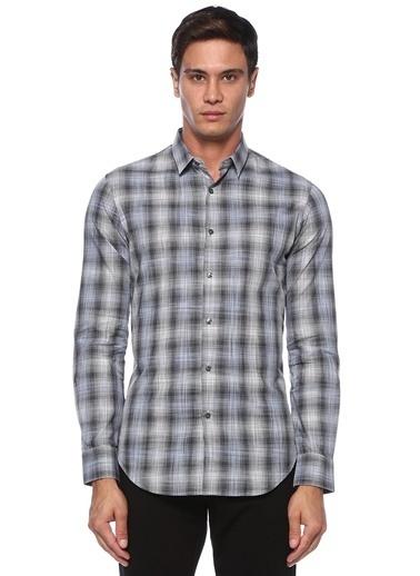Pal Zileri Pal Zileri  Ekose Desenli İngiliz Yaka Gömlek 101529073 Gri